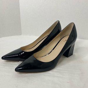 Marc Fisher Patten Leather Block Heels Sz 9.5